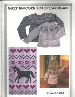 Elaine Cater  Girls' Unicorn Yoked Cardigan